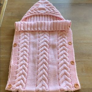 Baby girl knit sack